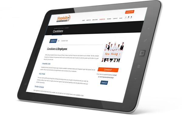 Hospitality Services Group website screenshot