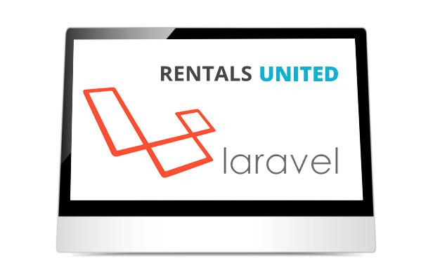 Rentals United and Laravel logos