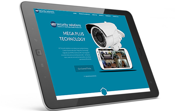 VST Security Solutions website