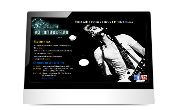 Will's Vocal Studio website screenshot